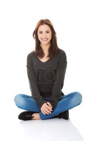 Photo for Young casual woman style. Studio portrait. - Royalty Free Image