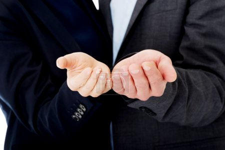 Photo for Businessman reaching his hands to customers - Royalty Free Image