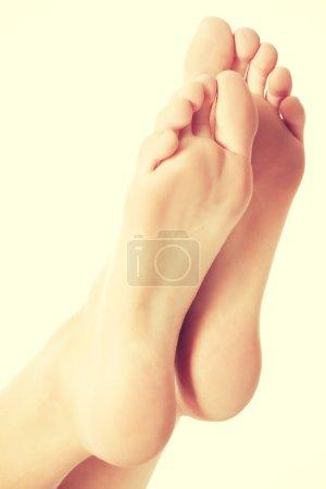 Fresh, clean feet with pedicure.