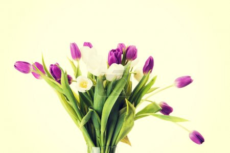 Photo for Bouquet of fresh spring tulip flowers - Royalty Free Image