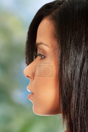 Beautiful womans face.