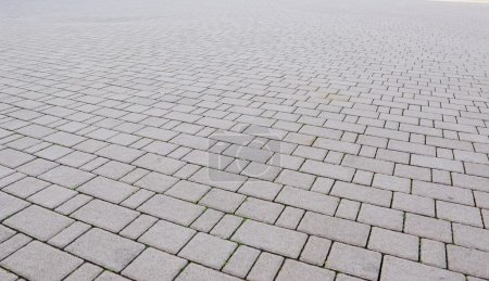 Brick grey pavement