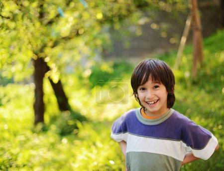 Photo for Cheerful kids having fun enjoying childhood - Royalty Free Image