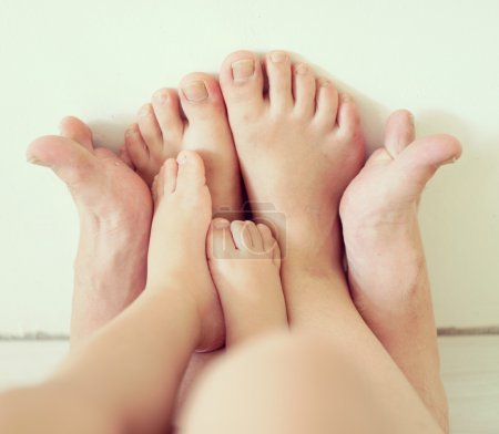 Family feet, love concept