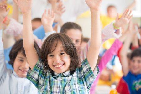 Happy children learning