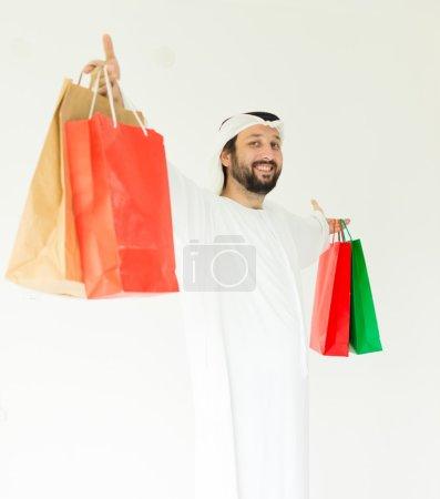Arabian man shopper