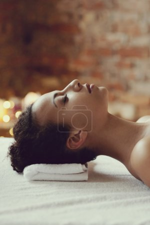 African woman on massage