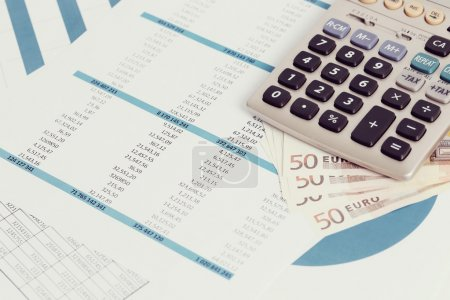 Photo for Finance. Accounting documents on the table - Royalty Free Image