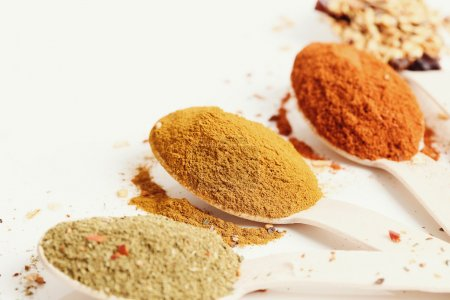 Various powder spices