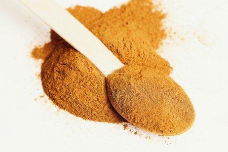 powder spice in spoon