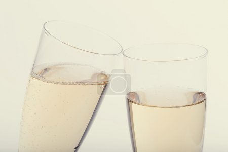 Champagne in two glasses