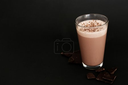 Milkshake on black table