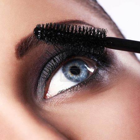 Girl during make-up