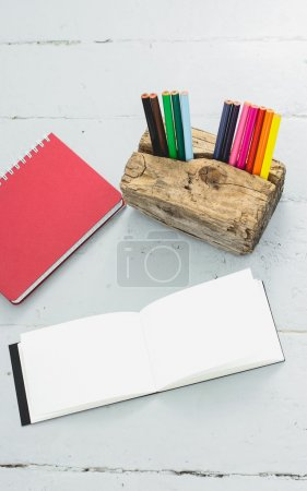 Blank notepad on the table