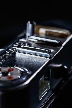 Close up of retro camera