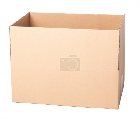 Carton box on a white