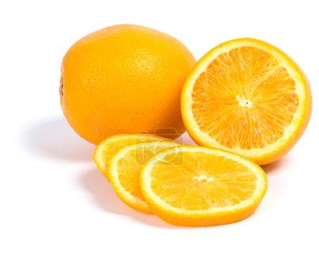 Photo pour D'agrumes. Orange délicieux sur un fond blanc - image libre de droit