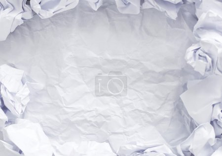 Crumpled paper on a white