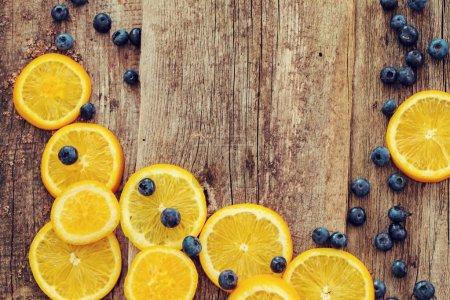 Delicious orange and berries