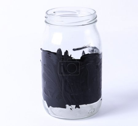 Empty jar for coins