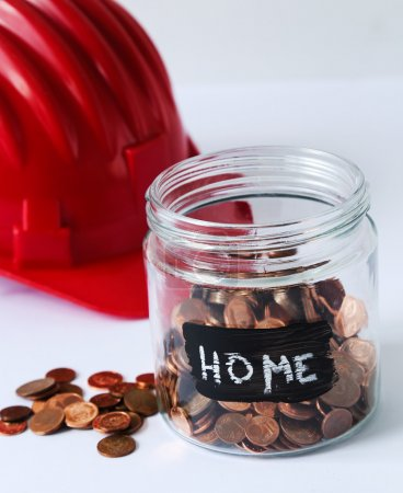 Jar with coins for home