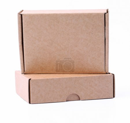 Photo for Carton boxes on a white background - Royalty Free Image