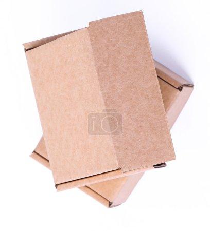 Carton boxes on a white