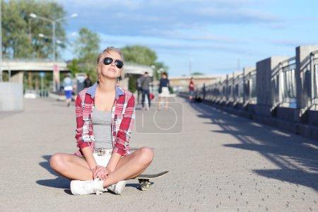 Girl in the skate park