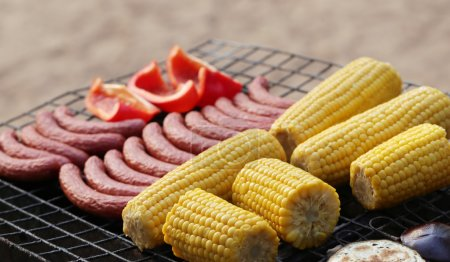 Delicious food on the grill