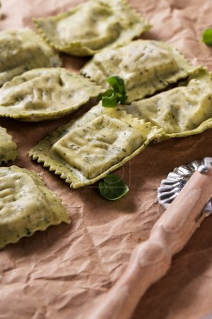 Photo for Food. Delicious handmade pasta on the table - Royalty Free Image