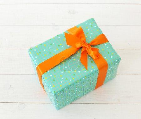 Holiday Gift box on floor