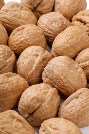 whole walnuts on table