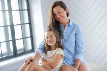Mother and cute daughter