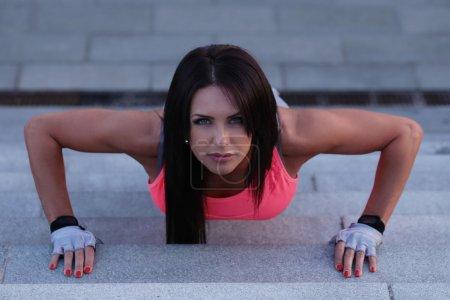 beautiful woman training