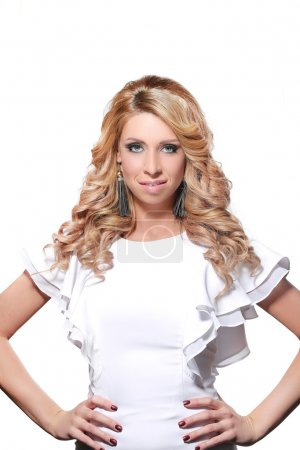 Beautiful blonde woman