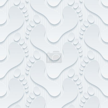 Photo for Footprints wallpaper. 3d seamless background EPS10. - Royalty Free Image