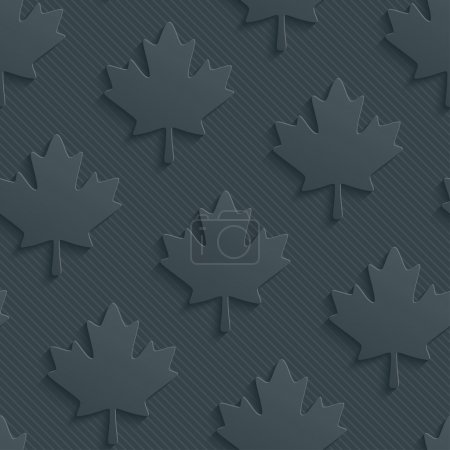 Dark gray maple leaves wallpaper.