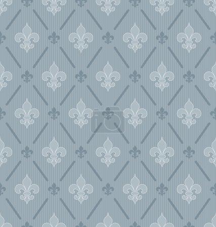 Fleur-de-lis seamless wallpaper.
