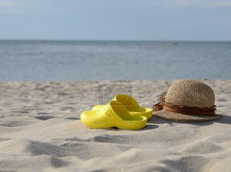 Yellow beach sandals