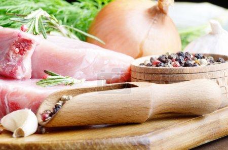 Raw Pork rib chops