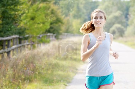 Young jogging woman
