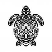 turtle in maori tattoo style Vector illustrations