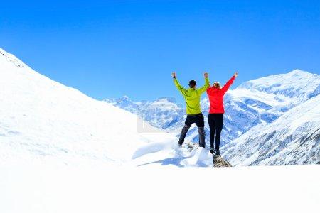Teamwork motivation, success in winter mountains