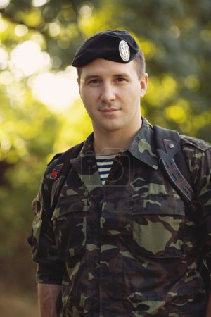 Soldier in a military uniform