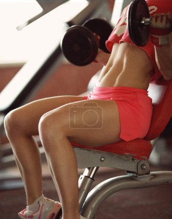 Woman on sport gym club