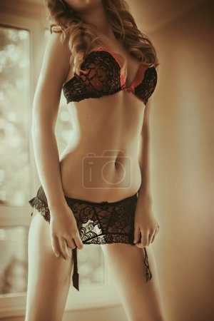 beautiful woman in lingerie