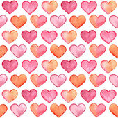 Vector Seamless Pattern with Watercolor Hearts fully editable eps 10 file with clipping masks