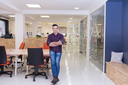 young startup business man portrait at modern office