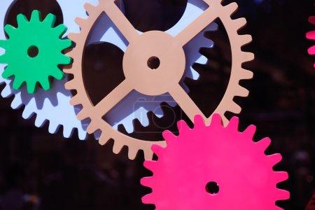 Machine gears, teamwork