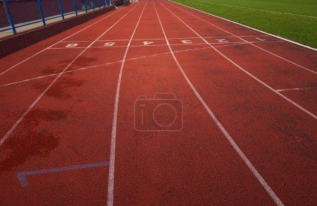 Athletic track at the stadium